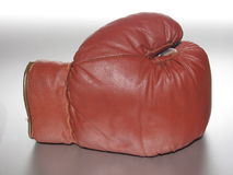 Boxing Glove II. Backside of an used boxing glove stock images
