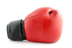 Boxing glove isolated on white Royalty Free Stock Photos