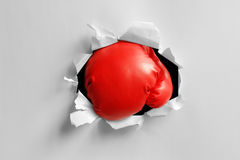 Boxing glove knockout punch Stock Photos