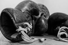 Boxing glove. A boxing glove from the past Royalty Free Stock Images