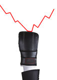 Boxing glove punch graphic Royalty Free Stock Photos