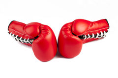 Boxing Glove. Red Boxing Glove With White Background Royalty Free Stock Photos