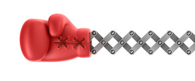 Boxing glove surprise Stock Image