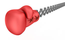 Boxing glove surprise, isolated Royalty Free Stock Image