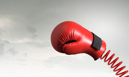 Boxing glove surprise Royalty Free Stock Photos