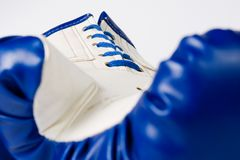 Boxing glove on white Stock Photo