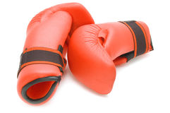 Boxing glove on white Stock Images