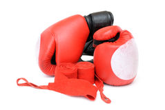Boxing gloves. Isolated on white Stock Image