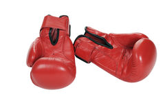 Boxing gloves. Boxing gloves on white background Stock Photos