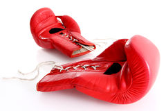 Boxing gloves. Red boxing gloves in white background Royalty Free Stock Image