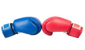 Boxing gloves. On a white background close up royalty free stock photos