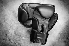 Boxing gloves. In black and white Royalty Free Stock Images