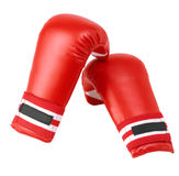 Boxing gloves. Red boxing gloves isolated on white background Royalty Free Stock Photos