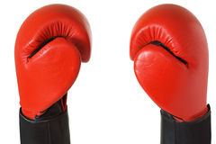 Boxing gloves. Pair of red boxing gloves Royalty Free Stock Photo