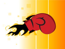 Boxing gloves. On striped background vector illustration