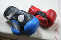 Boxing gloves. After a round Royalty Free Stock Photography