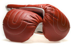 Boxing gloves. Pair of boxing gloves isolated on white Stock Photo