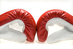 Boxing gloves. Isolated on white Stock Photo