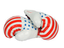 Boxing gloves. Isolated on a white background Royalty Free Stock Images