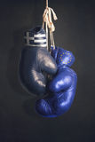 Boxing gloves as a symbol of Greece vs. the EU Royalty Free Stock Images