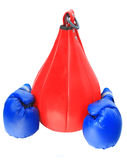 Boxing gloves and bag Stock Images