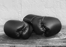 Boxing Gloves in Black and White Stock Images