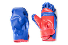 Boxing gloves blue Stock Image