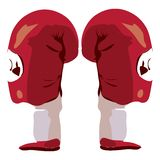 Boxing gloves with clipping path. Illustration with clipping path Stock Illustration