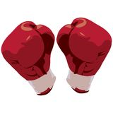 Boxing gloves with clipping path Stock Image