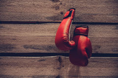 Boxing gloves. Royalty Free Stock Image
