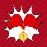 Boxing gloves design Stock Image
