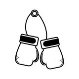 Boxing gloves equipment icon Stock Photo