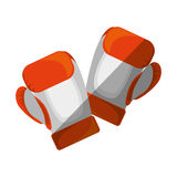 Boxing gloves equipment icon Royalty Free Stock Photography