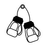Boxing gloves equipment icon Stock Photos