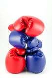 Boxing gloves. Fighting equipment and a fitness Stock Photography