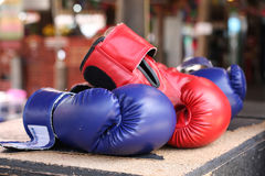Boxing gloves. Boxing glove it is good for protecting peoples hand Stock Image