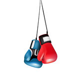 Boxing gloves hanging isolated Royalty Free Stock Images