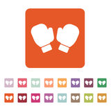 The boxing gloves icon. Game symbol. Flat Stock Images