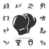 Boxing gloves icon. Set of Cfight and sparring element icons. Premium quality graphic design. Signs and symbols collection icon fo. R websites, web design Stock Images
