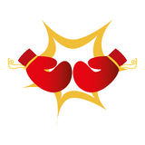 Boxing gloves isolated icon. Vector illustration design Royalty Free Stock Image