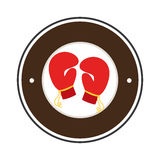 Boxing gloves isolated icon. Vector illustration design Royalty Free Stock Images