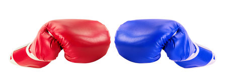 Boxing gloves isolated on the white background Royalty Free Stock Image
