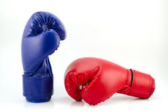 Boxing gloves isolated on white background Royalty Free Stock Photos