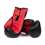 Boxing gloves isolated on a white background Royalty Free Stock Photography