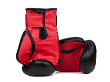 Boxing gloves isolated on a white background Stock Photography