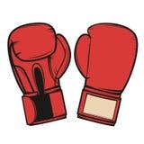 Boxing gloves isolated on white background. Design element   Stock Photo