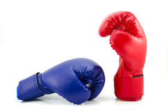 Boxing gloves isolated on white background Royalty Free Stock Photo