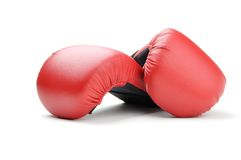 Boxing gloves for karate Stock Images