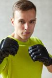 boxing gloves man young Arkivfoto
