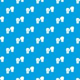 Boxing gloves pattern seamless blue Royalty Free Stock Photography